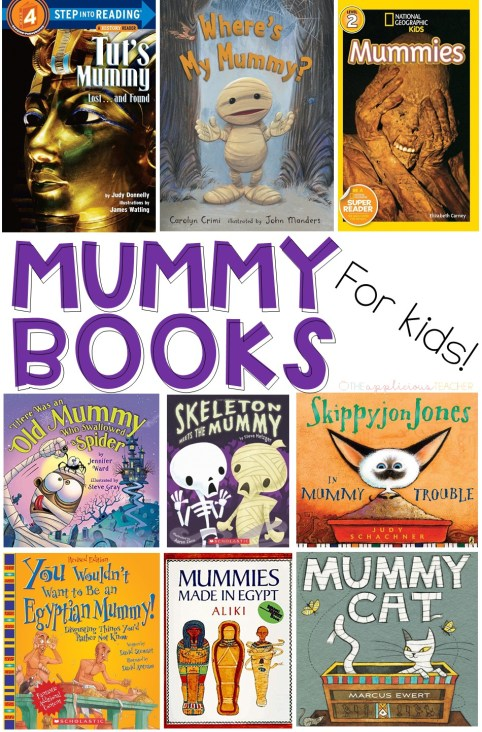 Mummy Books for Kids- Great list of 11 books that perfect for a mummy study or Halloween! TheAppliciousTeacher.com