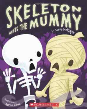 Skeleton Meets the Mummy- mummy books for kids