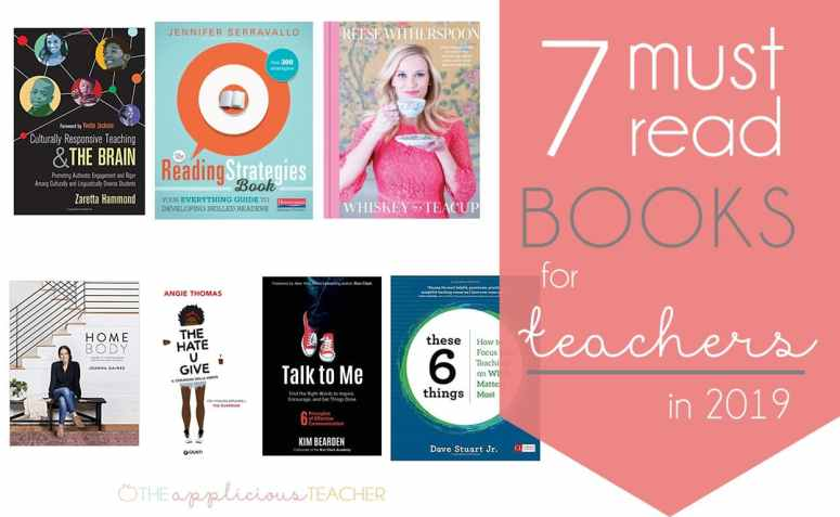 & must Read books for teacher in the new year- perfect variety of books to keep you motivated for the rest of the year! TheAppliciousTeacher