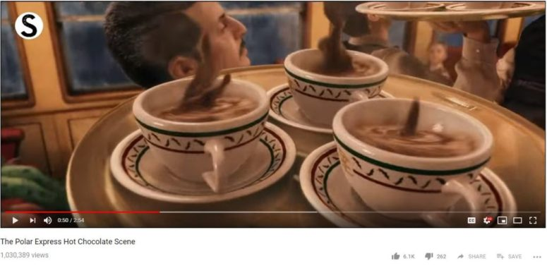 Hot chocolate scene from Polar Express- How to Make Hot chocolate