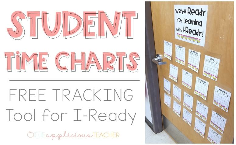 FREE IReady Data Tracking Charts- Love this idea for students to beable to track their time on IReady! TheAppliciouTeacher.com