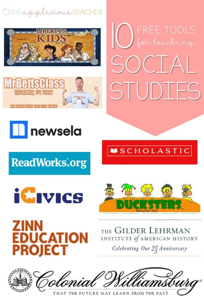 10 free social studies websites for teachers. Great list of sites to use to supplement your social studies curriculum. TheAppliciousTeacher.com #socialstudies #freeforteachers