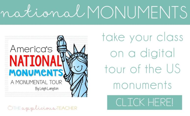 A Monumental Tour unit! Take your students on a cross country trip to learn more about the US monuments. TheAppliciousTeacher