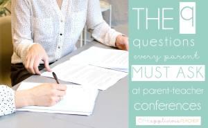 Must ask questions for parent teacher conferences. TheAppliciousTeacher.com