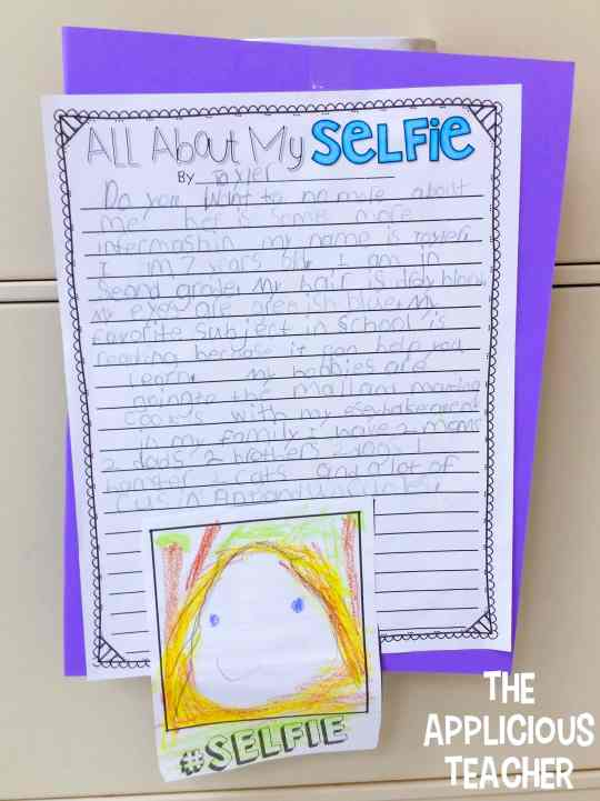 All about me writing activity for back to school