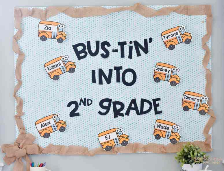 bustin into school bulletin board
