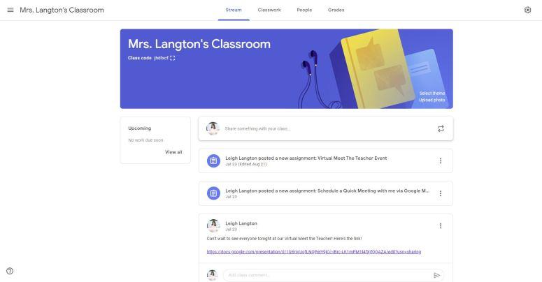google classroom stream 2nd grade