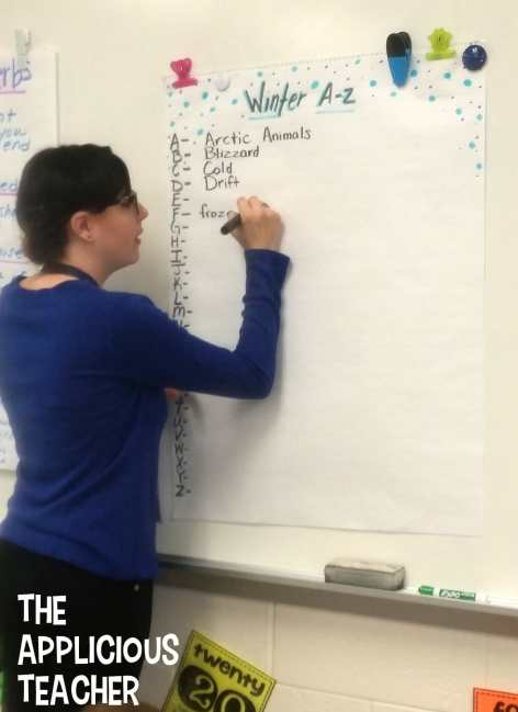 use an A to Z list to support your students spelling