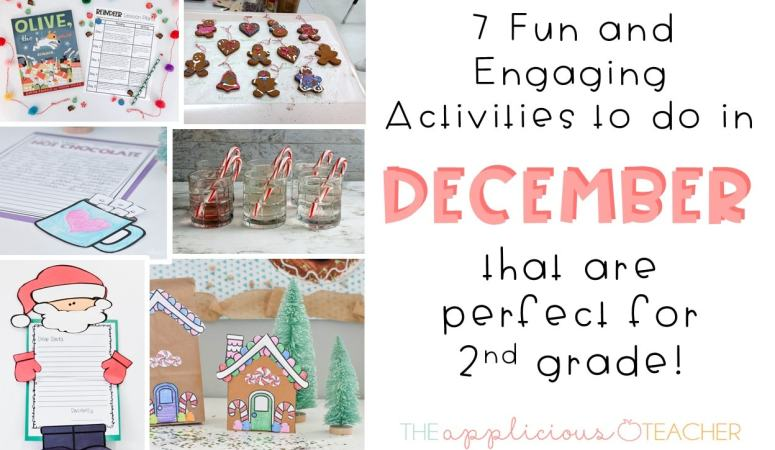 7 Activities to do in December for 2nd Grade