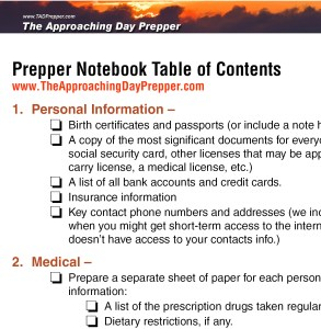 Prepper Notebook