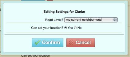Fire Eagle settings for Clarke