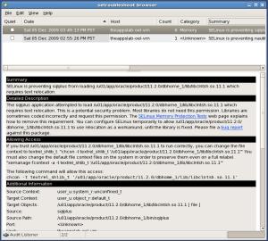 SELinux details