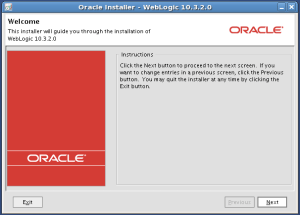 WebLogic 10.3.2 install welcome