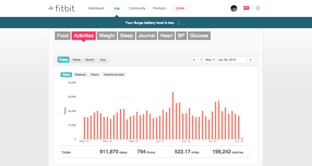 Track My Activities on Fitbit