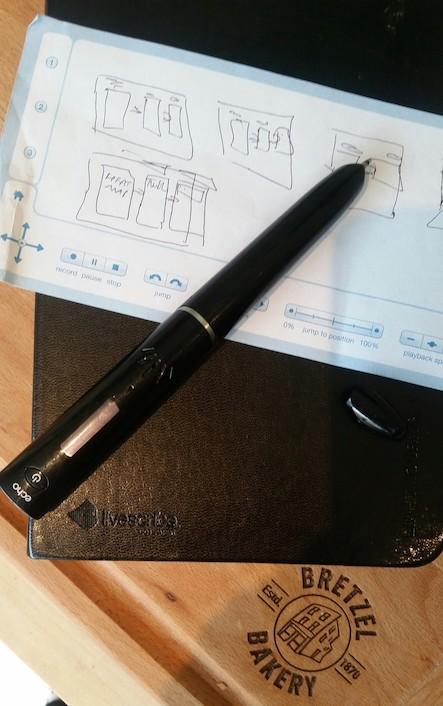 Livescribe Echo smartpen and notebook