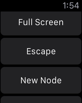 Some of the Apple Watch buttons I use to control NodeBox