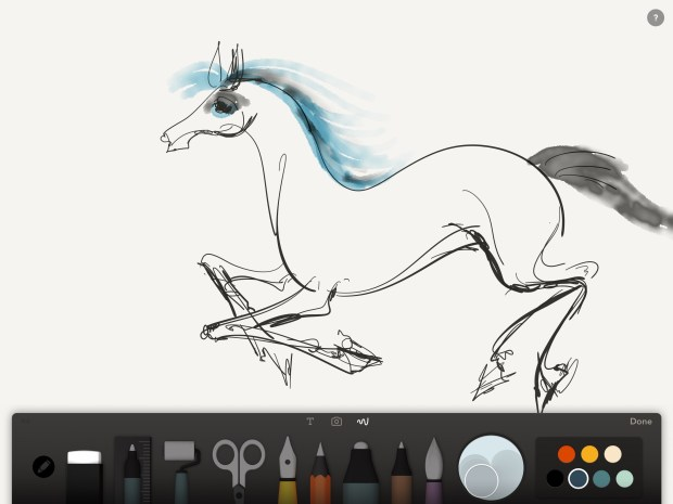 Running Horse by Anna Budovsky