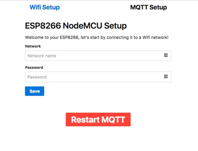 NodeMCU Config Screen
