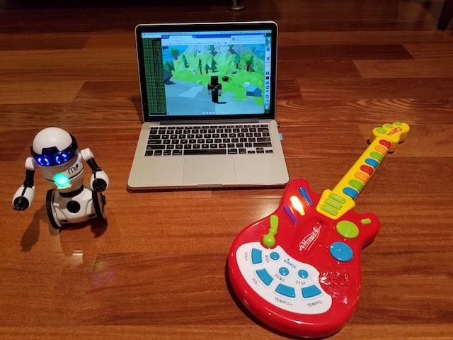 Real controller - Virtual avatar - Real robot