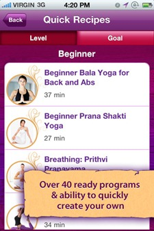 Yoga at your finger tips