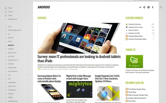 feedly  - chrome web app