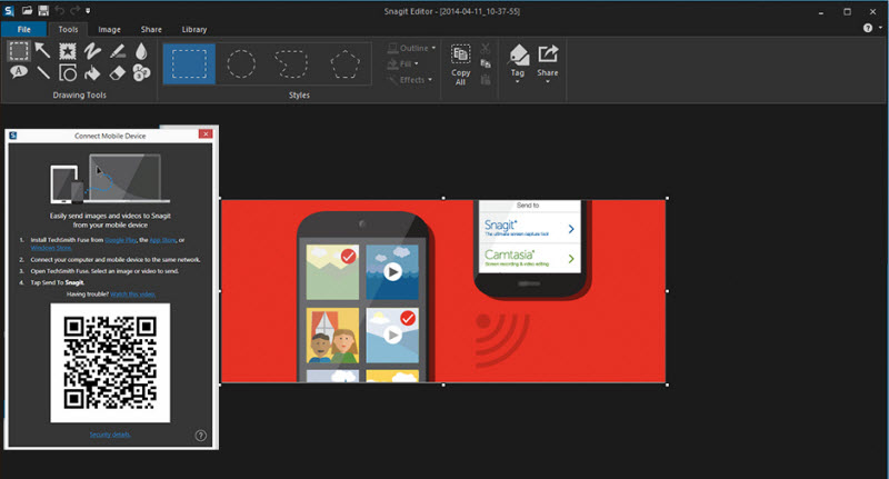 snagit 12 transferring images from mobile