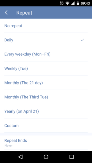 set recurring tasks in TickTick