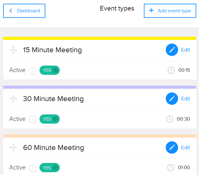 calendly event types