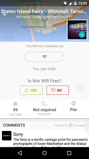 Locating free Wifi Hotspots with WifiMapper
