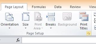 page setup button