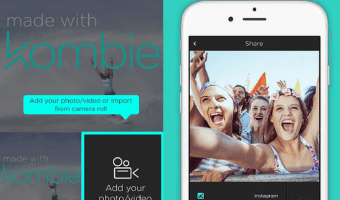 Create Selfies with Kombie and Mash with Cool Videos for Sharing