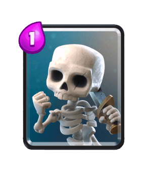 Clash Royale Cards in Arenas - skeletons