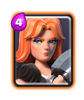 Clash Royale Troop Cards - valkyrie