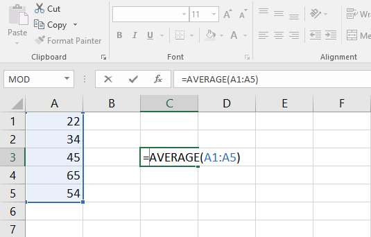 Formula with single argument