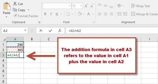 Using cell references