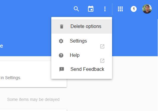 delete options