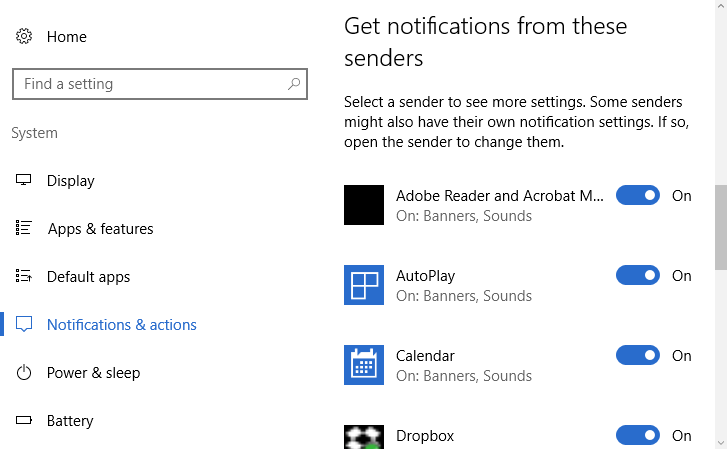 Apps to set priority notifications
