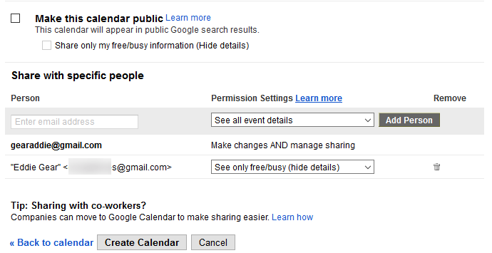 How to Share a Google Calendar with Others