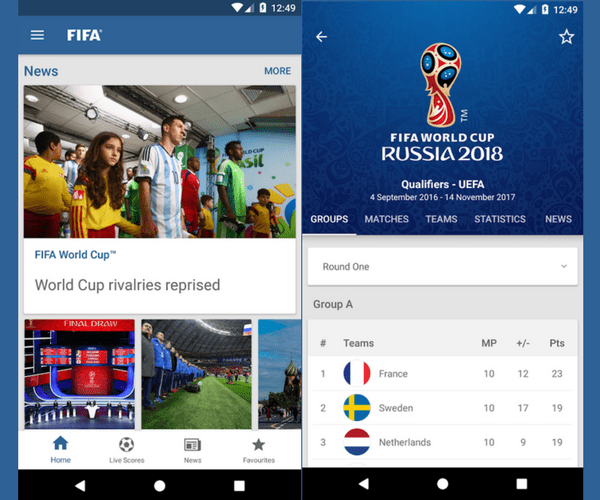 FIFA Official App - Must-Have Apps For Sports Fans (2018)