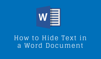 How to Hide Text in a Word Document
