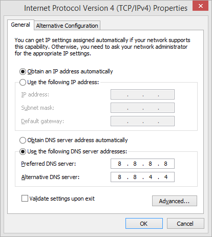 Changing DNS Settings - Fixes for Resolving Host Issue