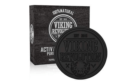 Viking Revolution Activated Charcoal Soap for Men