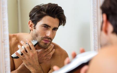 Men Trimming Beard
