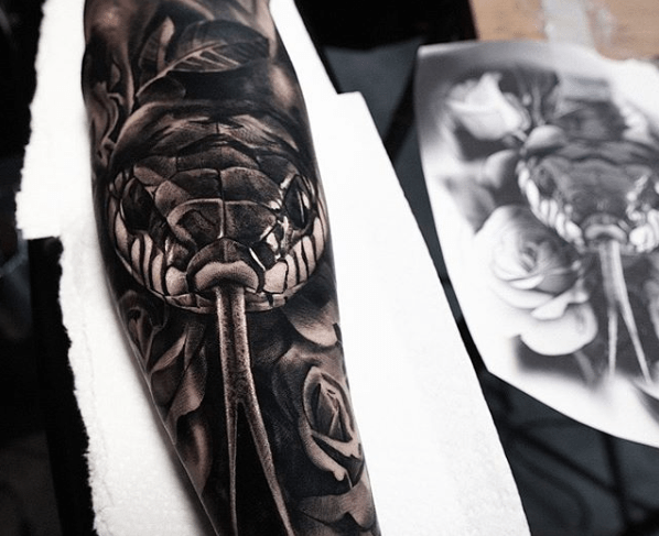 Tattoo Ink With Pen Ink