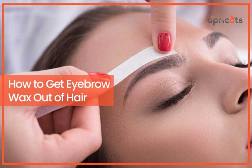 How to Get Eyebrow Wax Out of Hair