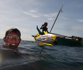 Sama Dilaut fisherman, Davao, Philippines