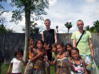 Erik and Andreas with Sama Children, Davao, Philippines