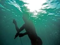 Sama DIlaut fisherman, Sampela, Wakatobi, Sulawesi, Indonesia