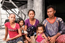 Rita Gabiola with family