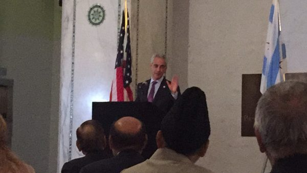 Mayor Rahm Emanuel promises that Chicago will be a city of inclusion, fairness and respect at an Iftar dinner at the Chicago Cultural Center Tuesday June 28, 2016